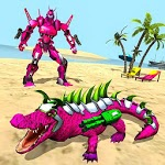 Real Robot Crocodile Simulator- Robot transform APK icon