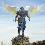 Crime Angel Superhero - Vegas Air Strike APK icon