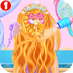 Princess Braided Hairstyle Makeover APK icon