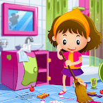 Princess Doll House Cleaning Game for Girls APK icon