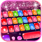 Colorful Glitter Keyboard Theme APK icon