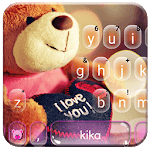 Lovely Brown Teddy Keyboard Theme APK