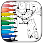 Superhero Coloring APK icon