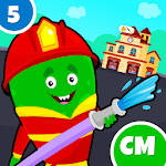 My Monster Town - Fire Station Games for Kids APK icon