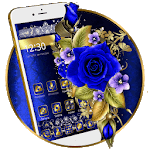 Gold and Blue Flower Theme🌼 APK