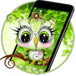 Cute Green Owl Theme💚🦉 APK