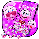 Cute Glitter Emoji Gravity Theme APK