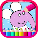 Coloring Pepa Book Cartoon Art - Painting Game APK icon