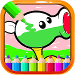 Painting Plant vs Coloring - Zombie Vegetable APK icon