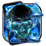 Neon Tech Skull Themes HD Wallpapers 3D icons APK