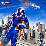 Flying Robot: Superhero Robot Flying Game APK icon