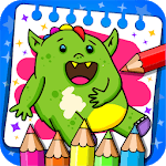 Monsters - Coloring Book & Games for Kids APK icon
