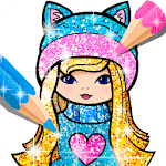 Girls Coloring Book for Kids Glitter APK