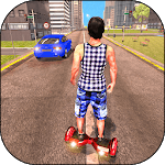 Racing in Hoverboard: Speed Running Game APK icon