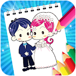 Bride and groom Coloring Game for kids APK