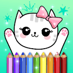 Coloring Pages Kids Games with Animation Effects APK icon