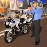 US Police Motor Bike Chase: City Gangster Fight APK icon