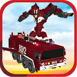 Real Robot fire fighter Truck: Rescue Robot Truck APK icon