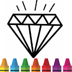 Diamond Coloring & Drawing for kids APK icon