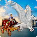 Flying Horse Taxi City Transport APK icon