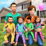 Virtual Mother Baby Quadruplets Family Simulator APK icon
