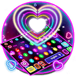 Colorful Sparkle Neon Heart Keyboard APK icon