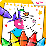 Peppo Pig Coloring Book APK icon
