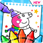 coloring book pepa APK icon