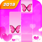 Butterfly Pink Piano Tiles - Magic Girl Kpop Music APK icon