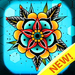 Tattoo color by number : Adult coloring book art APK
