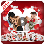 Valentine video maker with music - Photo Slideshow APK icon