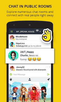 Chat Rooms, Virtual World - Galaxy APK screenshot 1