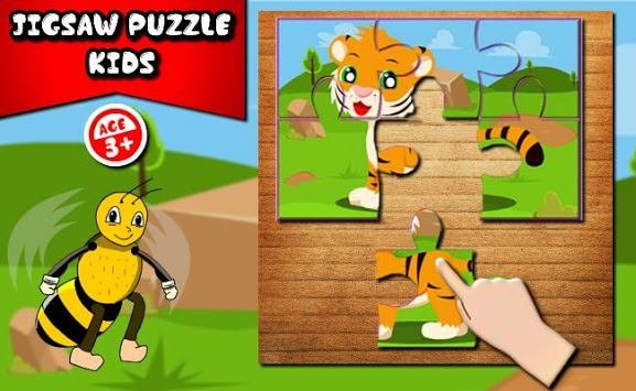 Kids Animals Jigsaw puzzle  : Little Bee APK screenshot 2