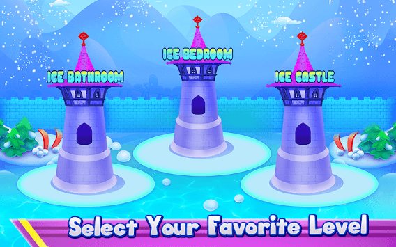Princess Ice Castle Cleaning and Decoration APK screenshot 2