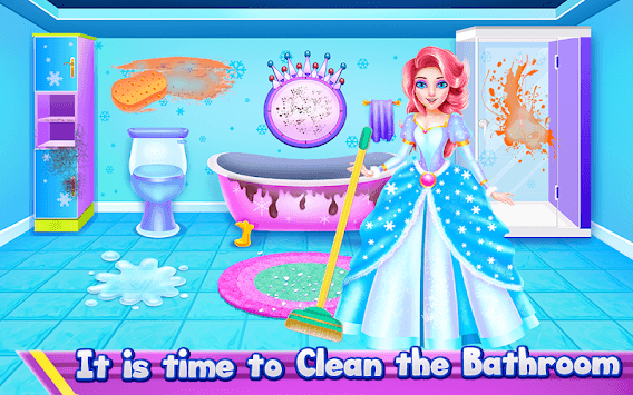 Princess Ice Castle Cleaning and Decoration APK screenshot 3
