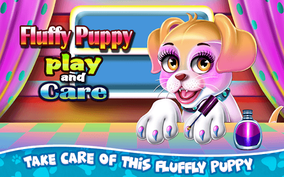 Fluffy Puppy Play and Care APK screenshot 1
