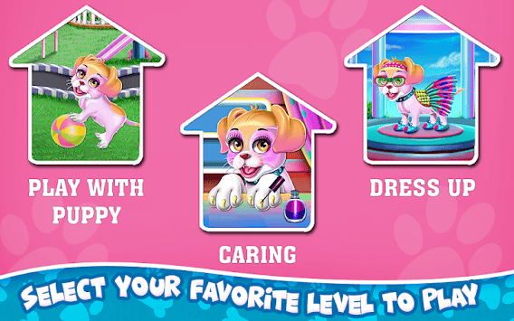 Fluffy Puppy Play and Care APK screenshot 2