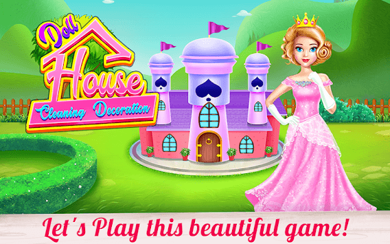 Doll House Cleaning Decoration APK screenshot 1