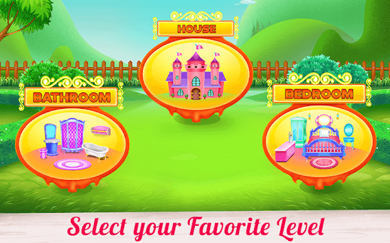 Doll House Cleaning Decoration APK screenshot 2
