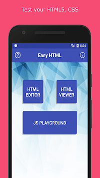Easy HTML - HTML, JS, CSS editor & viewer APK : Download v1