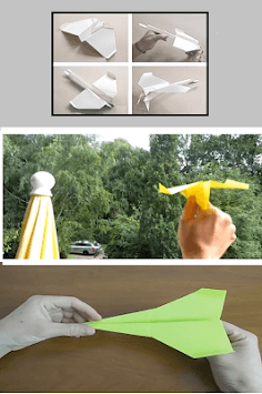 Origami paper airplanes up to 100 meters APK screenshot 2