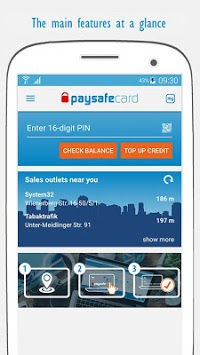 paysafecard – pay cash online APK screenshot 1