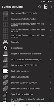 Building calculator APK screenshot 1