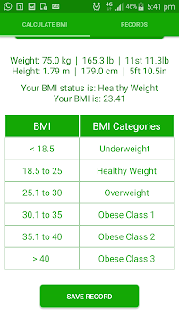 BMI Calculator Weight Tracker APK : Download v1 2 for Android at