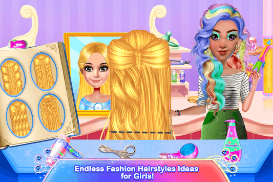 School Girl Hair Dressup Salon APK screenshot 1