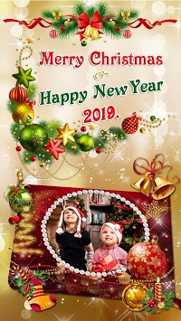Christmas Photo Frames 2019 🎄 New Year Pic Editor APK screenshot 1