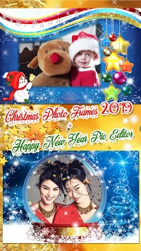 Christmas Photo Frames 2019 🎄 New Year Pic Editor APK screenshot 3