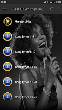 Whitney Houston Songs & Lyrics APK screenshot 1