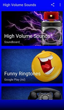 High Volume Sounds And Ringtones APK screenshot 1