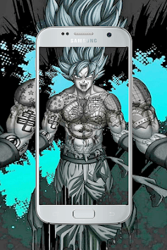 Goku art wallpaper HD APK screenshot 3